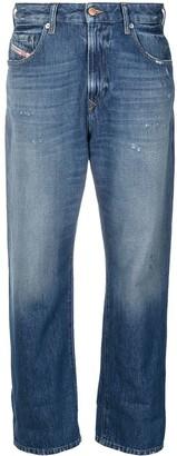 Diesel Wide Leg Cropped Jeans
