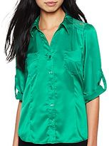 JCPenney B.Wear® Lace-Inset Solid Shirt