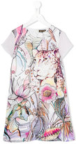 Roberto Cavalli floral print dress - kids - Silk/Acetate/Cupro - 12 yrs
