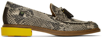 Off-White Python Tassel Loafers