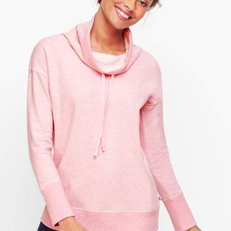 Talbots Cowlneck Heathered Fleece Pullover