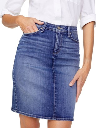 NYDJ Alton Five-Pocket Denim Skirt