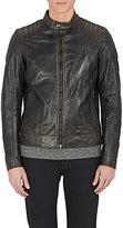 Belstaff Men's Leather Moto Racer Jacket
