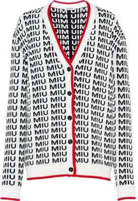 Miu Miu Logo Buttoned Cardigan