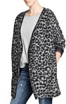 Mango Outlet Leopard Print Wool-Blend Coat