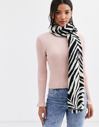 Accessorize Attie blanket scarf in zebra print