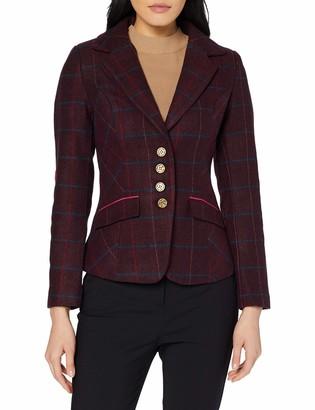 Joe Browns Women's Stunning Check Jacket Pink (Pinks (Size:14)