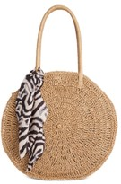 INC International Concepts Inc Quinnn Circle Straw Tote, Created For Macy's
