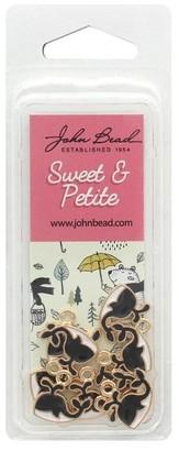John Bead Corporation John Bead Sweet&Petite Charm Whale Black 10pc - Medium