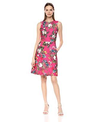 Calvin Klein Women's Sleeveless Dress with Seamed Waistline and Front Pockets