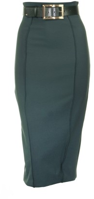 Elisabetta Franchi Celyn B. Pencil Skirt With Belt