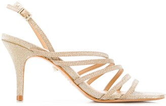 Schutz Glitter Strappy Sandals