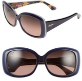 Maui Jim Women's 'You Move Me' 60Mm Polarized Sunglasses - Navy/ White/ Silk