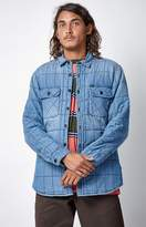 Obey Wrecker Quilted Chambray Shacket