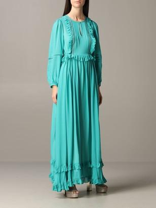 Twin-Set Twin Set Dress Long Dress With Micro Ruffles