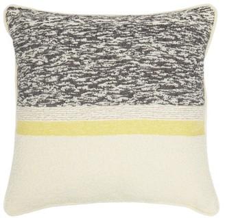 Tibor - Snow Leopard Abstract-jacquard Cushion - Grey Multi