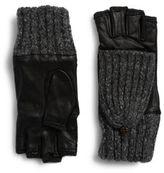 Carolina Amato Fingerless Leather Gloves