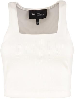 3x1 And Mimi Cuttrell - Cotton Blend Crop Top