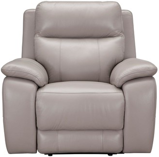 ColbyReal Leather/Faux Leather Power Recliner Armchair