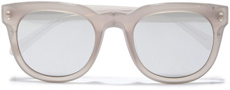 Linda Farrow D-frame Acetate Mirrored Sunglasses