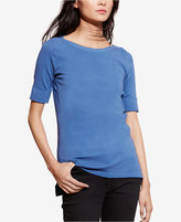Lauren Ralph Lauren Petite Stretch Boat-Neck T-Shirt