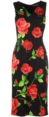 Dolce & Gabbana V Neck Sleeveless Rose