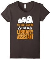 Special Tee Women's You Cant Scare Me Im A Library Assistant T-Shirt Large