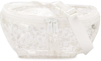 Eastpak transparent paint splatter print belt bag