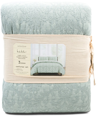 Savoy Matelasse Garment Washed Comforter Set