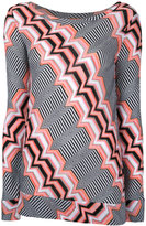 Missoni zigzag pattern knitted blouse