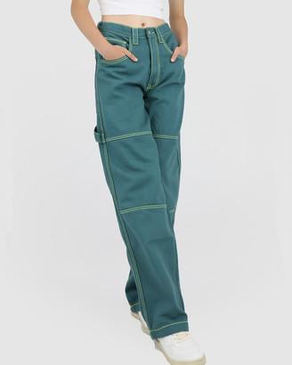 Dakota501 - Women's Green Relaxed Jeans - Carpenter Pant - Size One Size, 8 at The Iconic