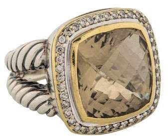 David Yurman Champagne Citrine & Diamond Albion Ring