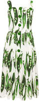 Dolce & Gabbana Snap Pea Midi Dress