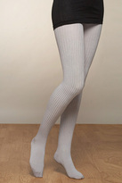Ribbed Tights in Silver