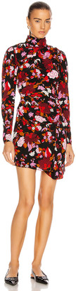 A.L.C. Marcel Dress in Black & Red Multi | FWRD