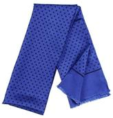 Black Blue Paisley Italian Silk Scarf