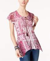 Style and Co Petite Printed Babydoll Tunic, Created for Macy's