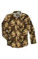 Volcom 'Harry' Camo Shirt (Big Boys)