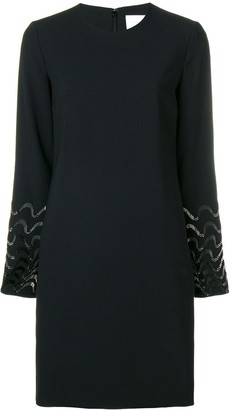 Victoria Victoria Beckham bead embroidered shift dress