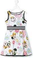 MonnaLisa Disney floral print dress - kids - Cotton/Polyamide - 6 yrs