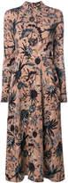 Markus Lupfer Isa arctic flower print crepe dress
