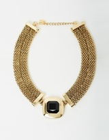 Izoa Rose Statement Necklace Gold