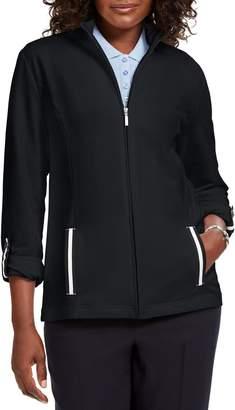 Karen Scott Zip Front Jacket
