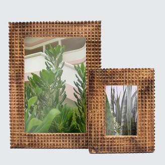 Artisans & Adventurers - Large Mango Wood Indian Monkey Puzzle Picture Frame