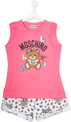 MOSCHINO BAMBINO TEEN top and shorts set