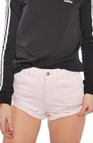 Topshop Petite Women's Ripped Mini Denim Shorts
