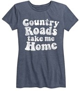 Instant Message Women's Women's Tee Shirts HEATHER - Heather Blue 'Country Roads Take Me Home' Relaxed-Fit Tee - Women & Plus