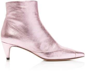 Isabel Marant Durfee Foiled Booties Size: 37