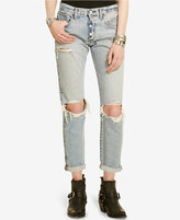 Denim & Supply Ralph Lauren D&S Linden Ripped Bennett Wash Boyfriend Jeans