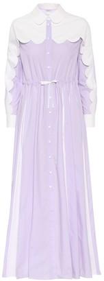 Huishan Zhang Scalloped maxi shirt dress